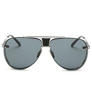Fashion Frameless Pilot Sunglasses -  GRAY