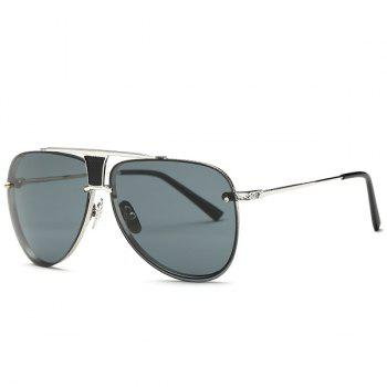 Fashion Frameless Pilot Sunglasses - GRAY GRAY