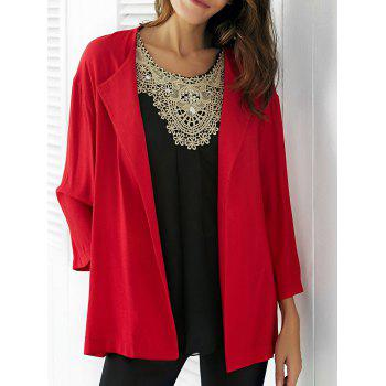 Simple Style Collarless Long Sleeve Women's Blouse