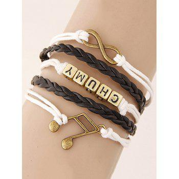 Buy Infinity Musical Note Letters Braided Bracelet COLORMIX