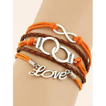 Buy Handcuffs Infinity Braided Bracelet COLORMIX