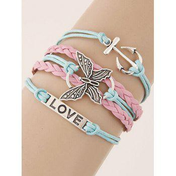 Buy Butterfly Anchor Braided Bracelet COLORMIX