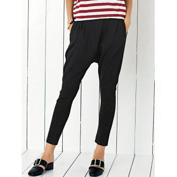 Casual Women's Stretchy Black Harem Pants
