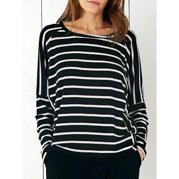 Batwing Sleeve Striped T-Shirt