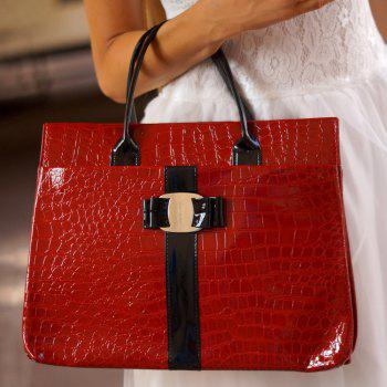Casual Embossing and Metal Design Tote Bag For Women