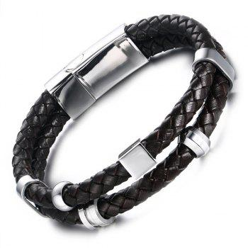 Vintage Braided Faux Leather Bracelet