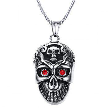 Vintage Skull Shape Hollow Pendant For Men