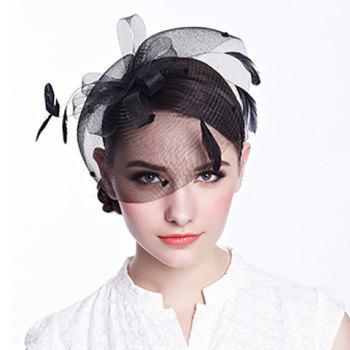 Gorgeous Feather Floral Nets Party Hairband For Women