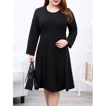 Plus Size Brief Slimming Draped Dress