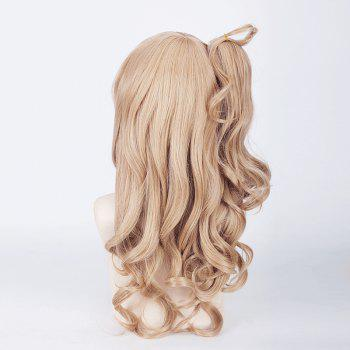 Fluffy Wave Flaxen Long Wig with Ponytail Love Live White Day Kotori Minami Cosplay - FLAX
