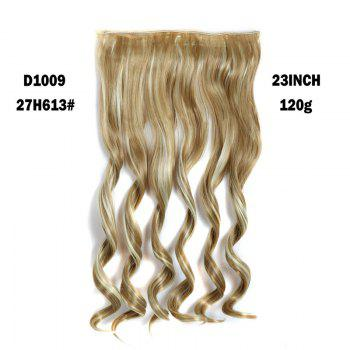Fashion Women's Long Capless Fluffy Wavy Clip In Synthetic Hair Extension