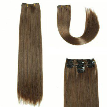 Women's Long Straight Clip-In Synthetic Glossy Hair Extension