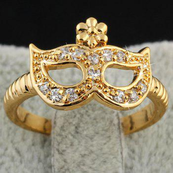 Cut Out Rhinestone Eye Mask Ring