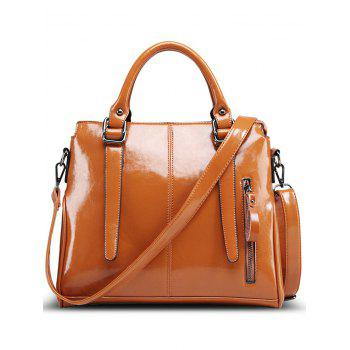Fashionable Straps and Solid Color Design Women's Tote Bag - BROWN BROWN