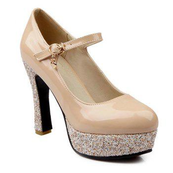 Graceful Patent Leather and Sequined Design Women's Pumps