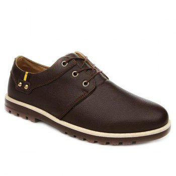 Fashionable Metal and Tie Up Design Men's Casual Shoes