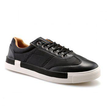 Sports Style Camouflage Print and Splice Design Men's Casual Shoes - BLACK BLACK