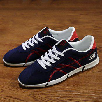 Sports Style Stitches and Lace-Up Design Men's Casual Shoes - 40 40
