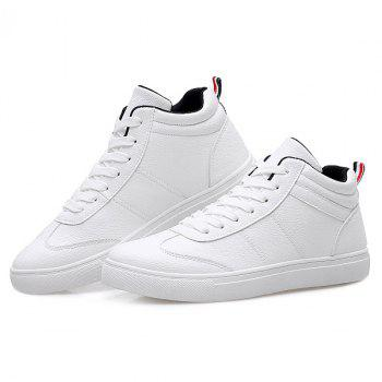 Simple Mid Top and PU Leather Design Men's Casual Shoes - 42 42