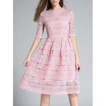 Crochet Hollow Out Knee Length Dress