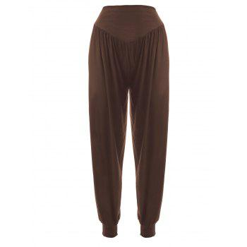 Women's Elastic Waist Solid Color Loose-Fitting Sport Pants