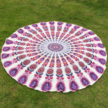 Indian Retro Style Bikini Boho Swimwear Mandala Pattern Chiffon Round Beach Throw