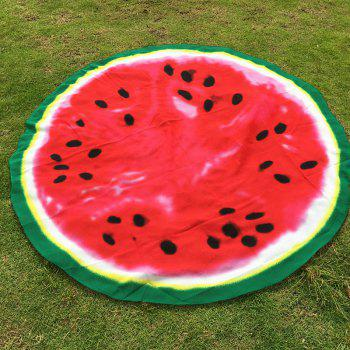 Hot Tropical Fruit Sea Side Sunshine Bikini Boho Swimwear Watermelon Pattern Chiffon Round Beach Throw