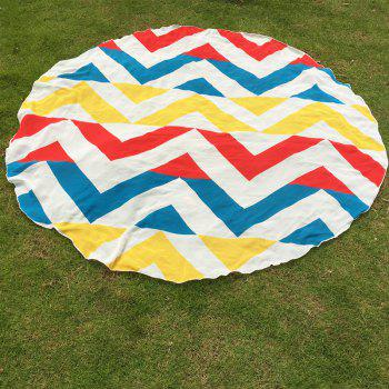 Hawaii Style Sea Side Sunshine Bikini Boho Swimwear Chevron Pattern Chiffon Round Beach Throw