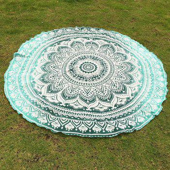 Indian Retro Style Bikini Boho Swimwear Mandala Lotus Flower Pattern Chiffon Round Beach Throw