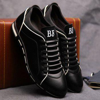 Trendy Splicing and PU Leather Design Men's Casual Shoes