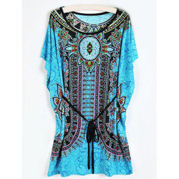 Tribal Print Mini Belt Dress