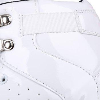 Stylish Tie Up and Breathable Design Men's Casual Shoes - WHITE 43