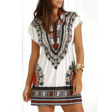 Ethnic Summer Casual Dress With Sleeves
