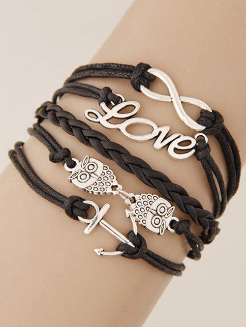 Stylish Owl Anchor Strand Bracelet