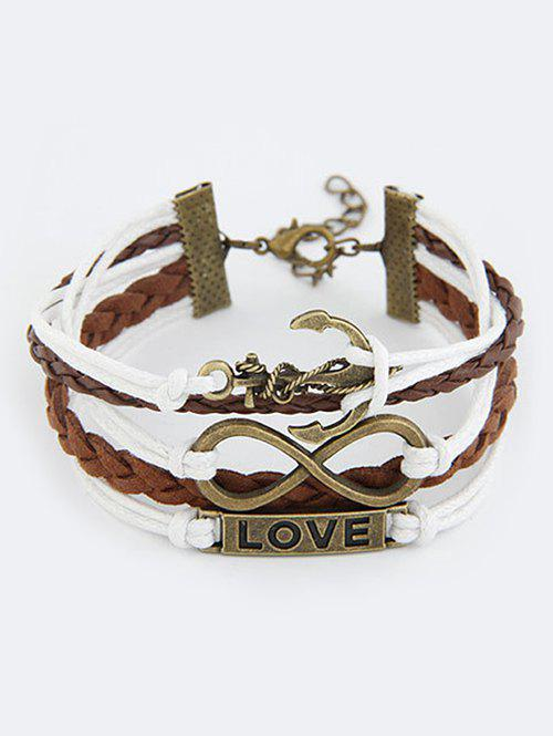 Infinity Anchor Strand Bracelet - COLORMIX