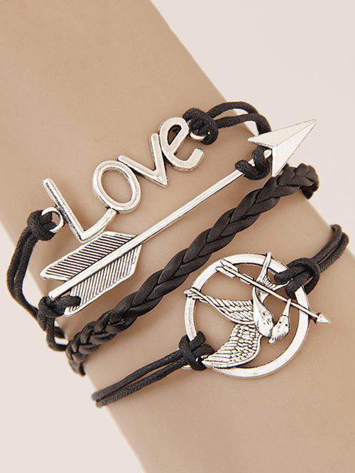 Irenidae Arrow Braided Bracelet - BLACK