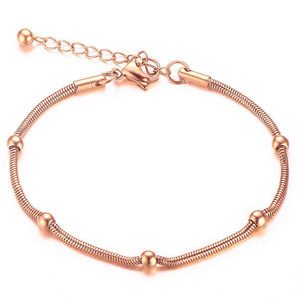 Stylish Solid Color Bead Snack Chain Bracelet For Women