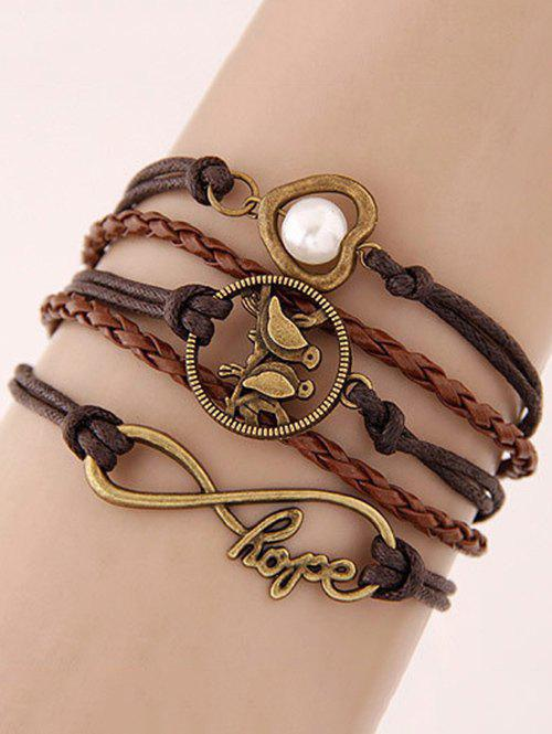 Stylish Birdie Infinite Braided Bracelet