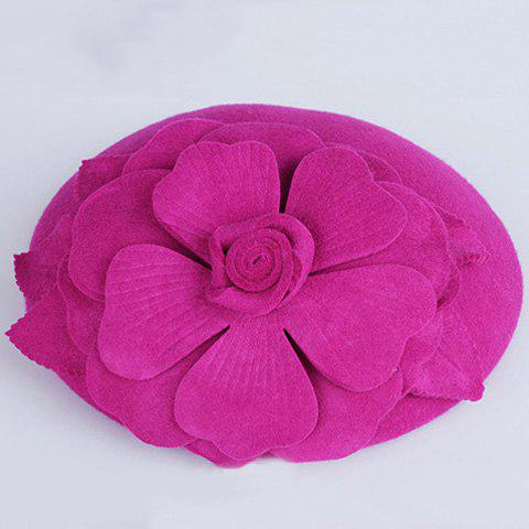 Vintage Floral Party Hair Comb Hat For Women - PLUM