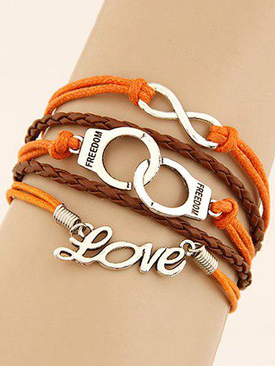 Handcuffs Infinity Braided Bracelet - COLORMIX