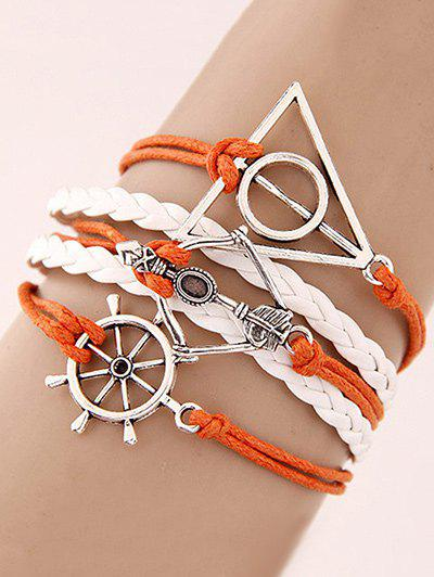 Rudder Triangle Braided Bracelet - COLORMIX