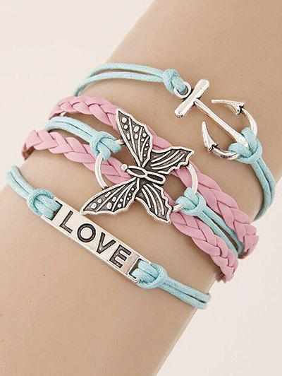 Stylish Butterfly Anchor Braided Bracelet