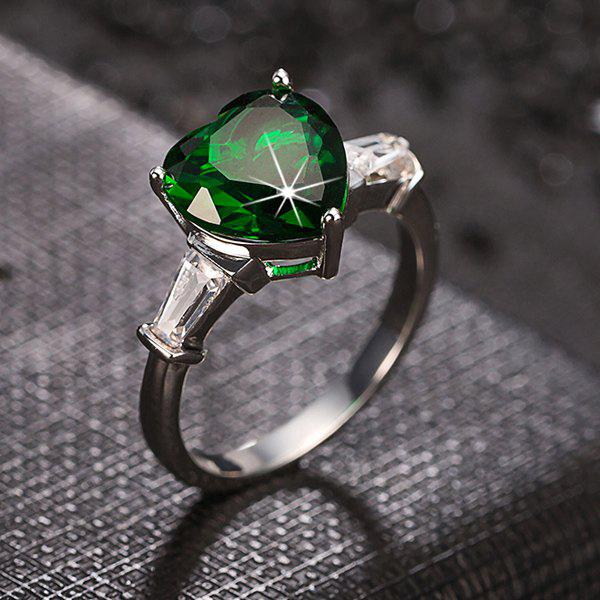 Fashion Style Heart Shape Faux Crystal Charming Ring For Women