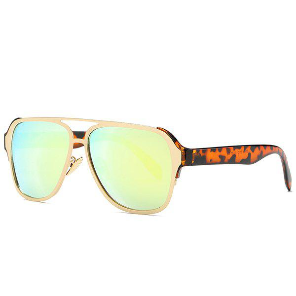 Fashion Cut Out Pilot Mirrored Sunglasses For Women - GOLDEN