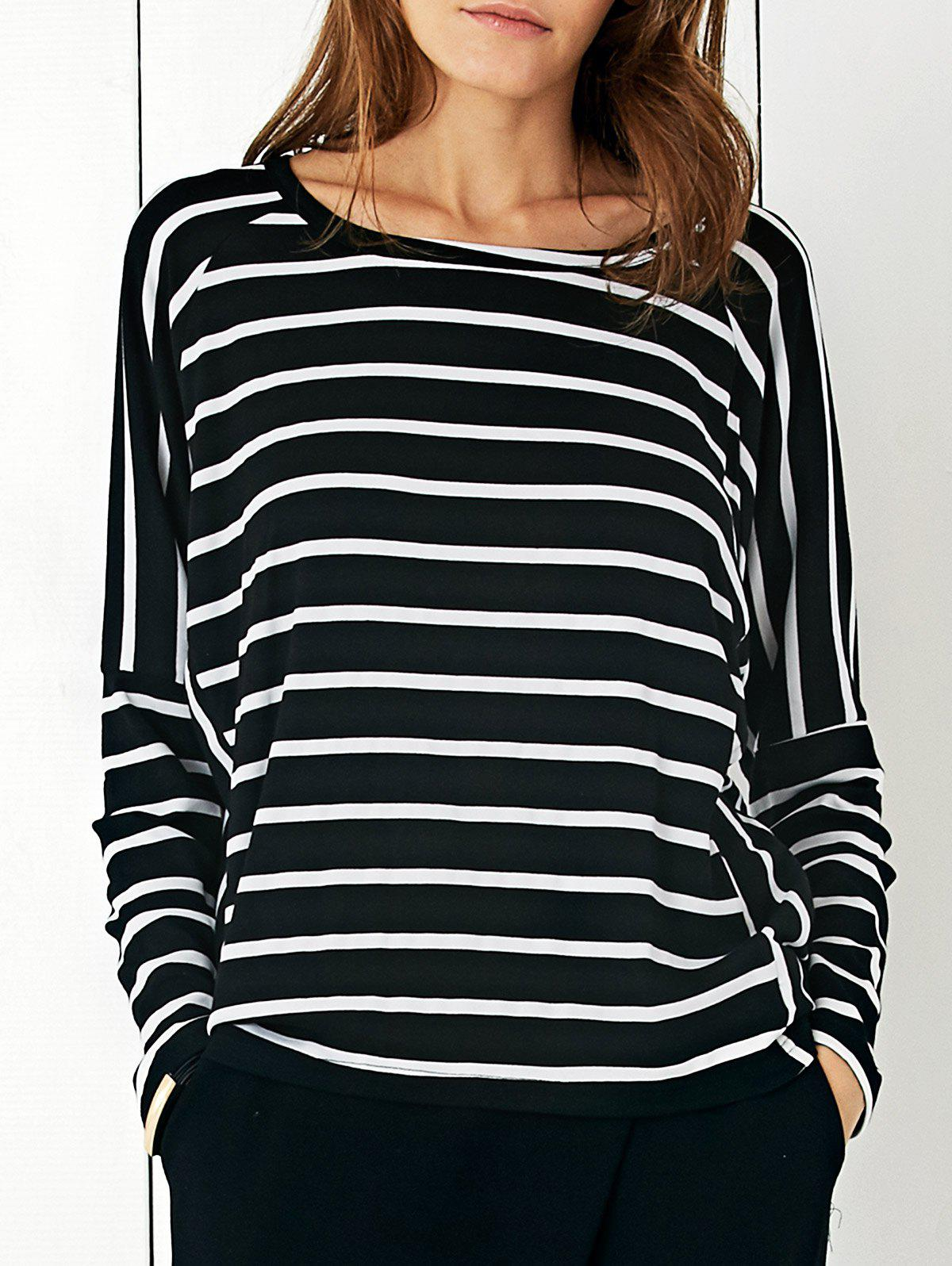 Simple Women's Striped Loose T-Shirt