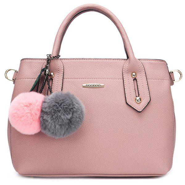 Trendy Metal and Solid Colour Design Women's Tote Bag - PINK