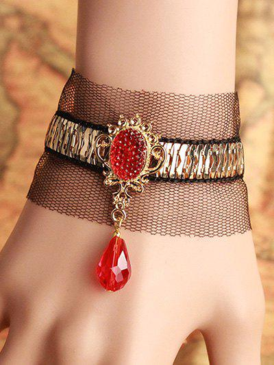 Stylish Faux Ruby Lace Bracelet - COLORMIX