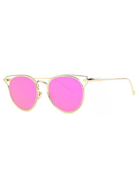 Cute Arrow Cat Eye Mirrored Sunglasses - ROSE