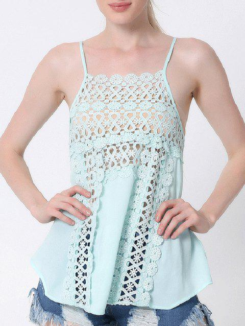 da873f2b8f418c 41% OFF  2019 Lace Cami Tank Top In LIGHT GREEN 2XL