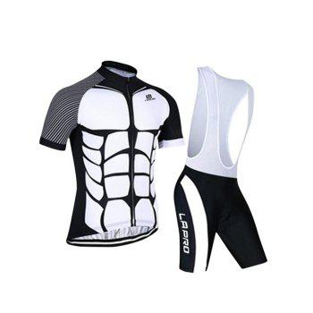 Active Spliced Bibshort + Short Sleeves Bike Jerseys Twinset For Men